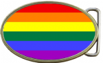 LGBT Flag Belt Buckle
